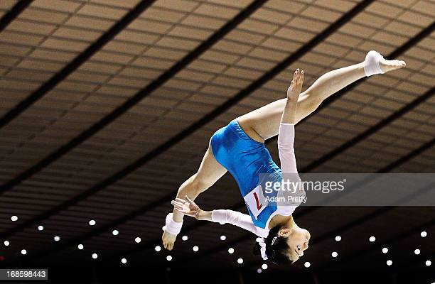 Sakura Noda of Japan performs her beam routine during day two of the 67th All Japan Artistic Gymnastics Individual All Around Championship at Yoyogi...