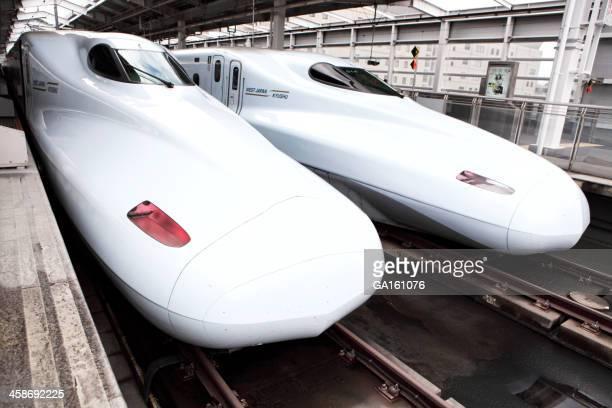 Sakura shinkansen trains at Kagoshima Chuo Eki