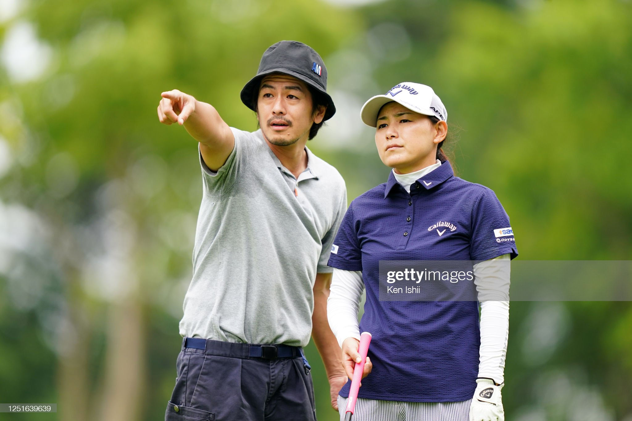 https://media.gettyimages.com/photos/sakura-yokomine-of-japan-discusses-with-her-caddie-and-husband-yotaro-picture-id1251639639?s=2048x2048
