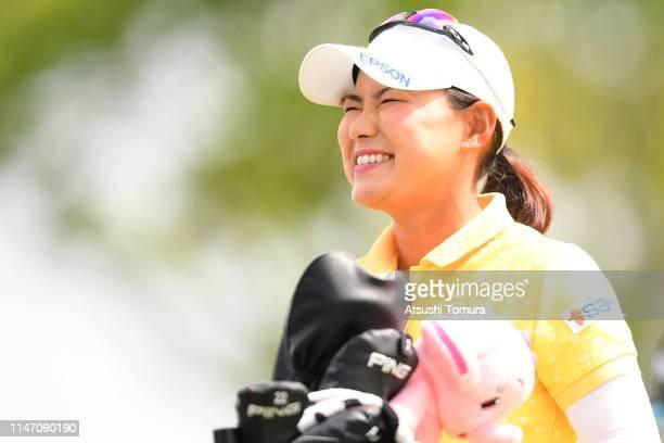 Sakura Yokomine of Japan smiles during the final round of the Panasonic Open at Hamano Golf Club on May 05 2019 in Ichihara Chiba Japan
