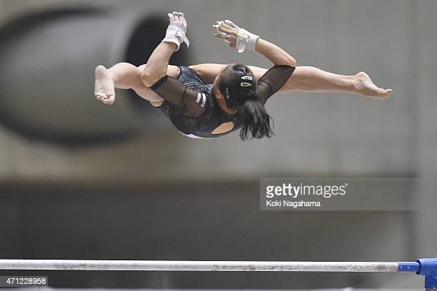 Sakura Yumoto competes in the Uneven Bars during day three of the All Japan Artistic Gymnastics Individual All Around Championships at Yoyogi...