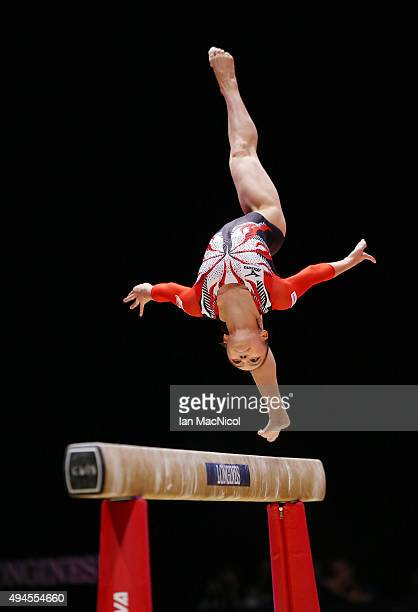 Sakura Yumoto of Japan competes on the Floor during day five of World Artistic Gymnastics Championship at The SSE Hydro on October 27 2015 in Glasgow...