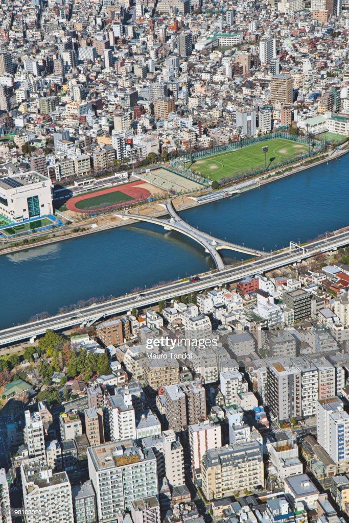 Sakura-bashi bridge, Sumida River, Tokyo : Foto stock