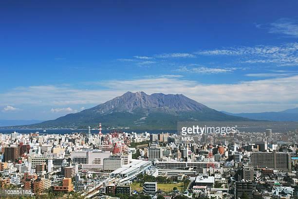 Sakurajima and Cityscape of Kagoshima, Kagoshima, Kagoshima, Japan