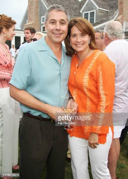 Sal Bracco and Lorraine Bracco during Lorraine Bracco's Wine Tasting Event - August 19, 2006 at 468 Butter Lane in Bridgehampton, New York, United...