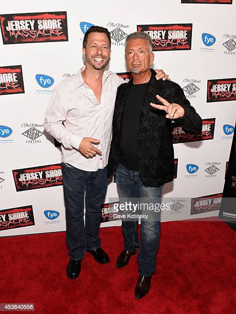 Sal Governale and Larry Caputo attend the Jersey Shore Massacre New York Premiere at AMC Lincoln Square Theater on August 19 2014 in New York City
