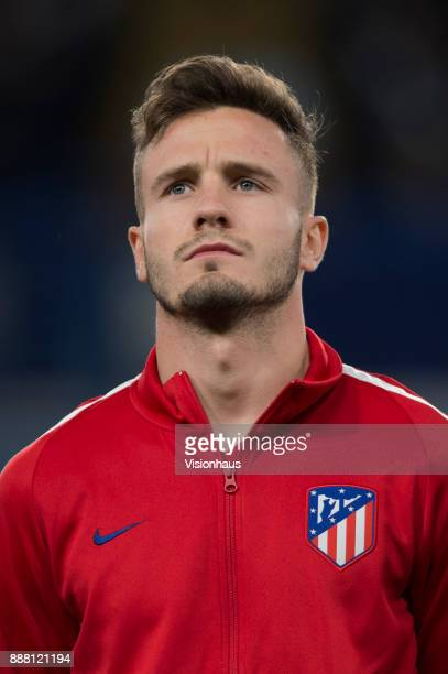 Saúl Ñíguez of Atletico Madrid before the UEFA Champions League group C match between Chelsea FC and Atletico Madrid at Stamford Bridge on December 5...