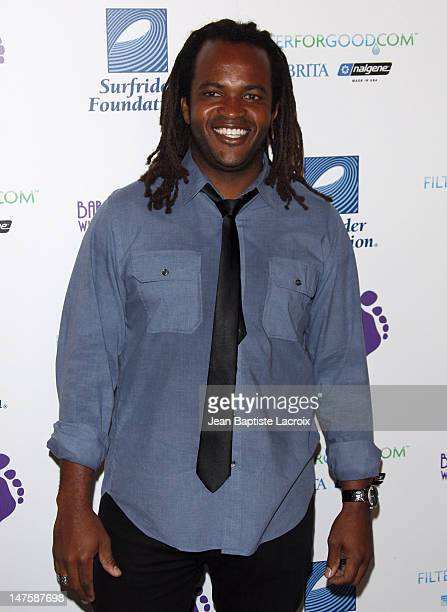 Sal Masekela arrives at The Surfrider Foundation's 25th Anniversary Gala at the California Science Center's Wallis Annenberg Building on October 9...