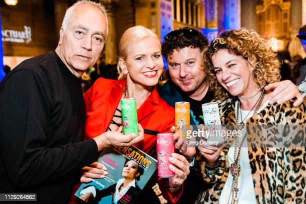 Sal Passone Vaiva Tuckuviene of Zensations Magazine and Wolfgang Santner and Claudia Farrokhnia of Casa Luigi attend the Sanctuary Fashion Week on...