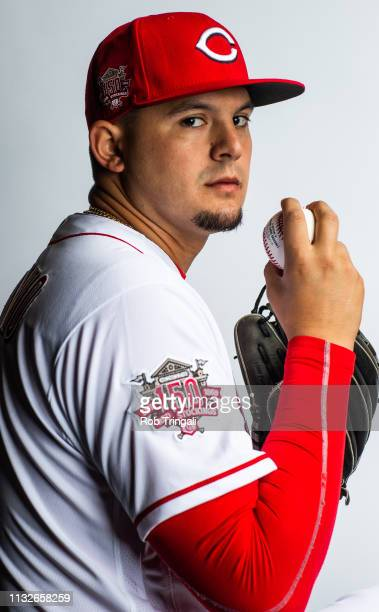 Sal Romano f the Cincinnati Reds poses for a portrait at the Cincinnati Reds Player Development Complex on February 19, 2019 in Goodyear, Arizona.
