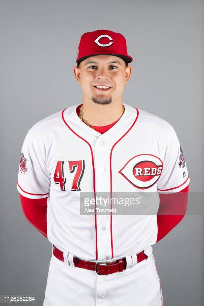 Sal Romano of the Cincinnati Reds poses during Photo Day on Tuesday February 19 2019 at Goodyear Ballpark in Goodyear Arizona