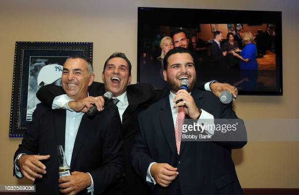 Sal Valentinetti John Franco and Lee Mazzilli attend the 6th Annual Fred L Mazzilli Mustache Bash Foundation Fundraiser at the Hard Rock Cafe at...