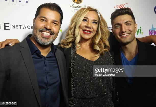 Sal Valez Jr KiKi Melendez and Lamar Babi attend the premiere of 'Kiki Mobile' at Viva Hollywood on September 6 2017 in Hollywood California