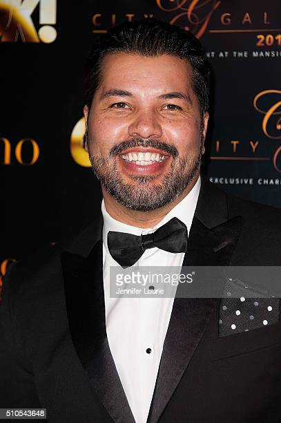 Sal Velez Jr arrives at the 2016 City Gala Fundraiser at The Playboy Mansion on February 15 2016 in Los Angeles California
