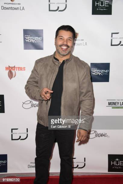 Sal Velez Jr attends NBA Legend Gary Payton hosted Mens Luxury Styling Lounge For NBA AllStar Weekend at Porsche Downtown LA on February 16 2018 in...