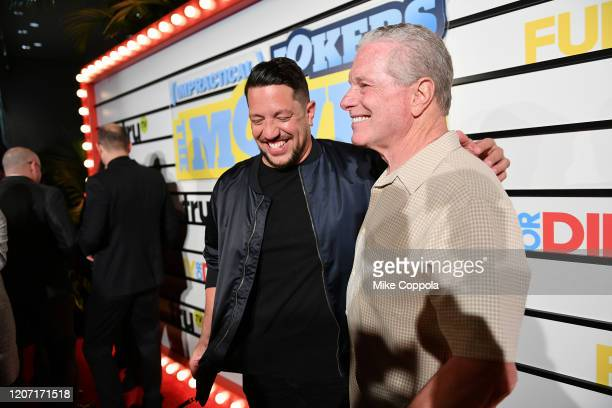 Sal Vulcano and Sal Vulcano Sr attend the Impractical Jokers The Movie Premiere Screening and Party on February 18 2020 in New York City 739100