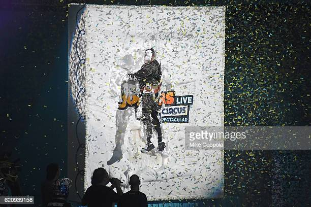 Sal Vulcano attends the Impractical Jokers Live Nitro Circus Spectacular at Prudential Center on November 3 2016 in Newark New Jersey JPG