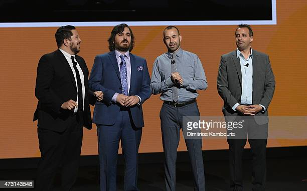 Sal Vulcano Brian Quinn James Murray and Joe Gatto speak on stage at the Turner Upfront 2015 at Madison Square Garden on May 13 2015 in New York City...