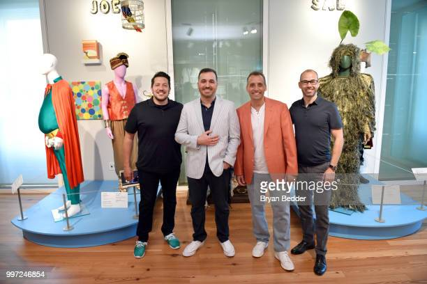 Sal Vulcano Brian Quinn Joe Gatto and James Murray attend the opening event for the Impractical Jokers Homecoming Exhibit a celebration of the hit...