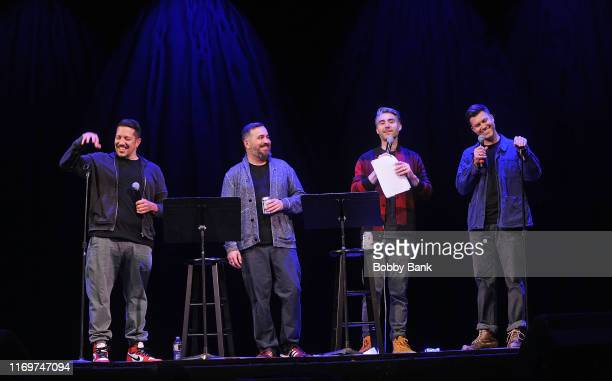 Sal Vulcano Casey Jost Brian Quinn and Colin Jost perform at the Colin Jost Michael Che And Friends A Comedy Show To Benefit The Staten Island Museum...