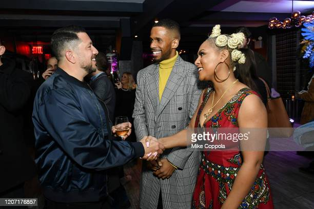 Sal Vulcano Eric West and Tashiana Washington attend the Impractical Jokers The Movie Premiere Screening and Party on February 18 2020 in New York...