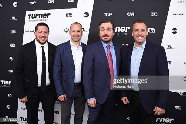 Sal Vulcano James Murray Brian Quinn and Joe Gatto attend Turner Upfront 2016 arrivals at The Theater at Madison Square Garden on May 18 2016 in New...