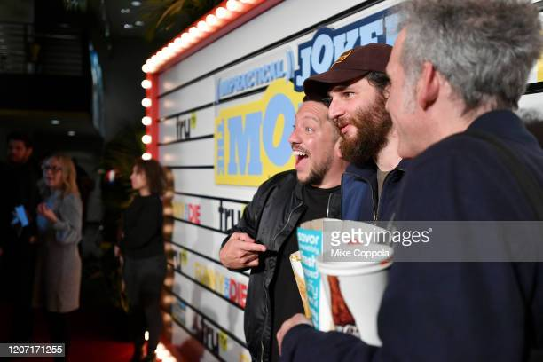 Sal Vulcano Josh Safdie and Ronald Bronstein attend the Impractical Jokers The Movie Premiere Screening and Party on February 18 2020 in New York...