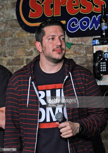 Sal Vulcano of The Impractical Jokers performs at The Stress Factory Comedy Club on April 2 2013 in New Brunswick New Jersey