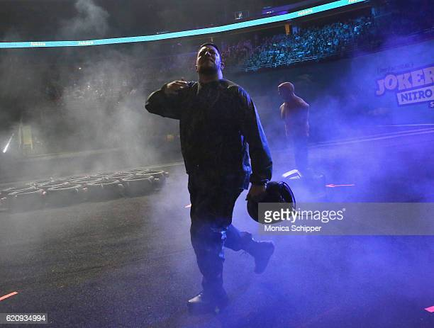 Sal Vulcano performs at Impractical Jokers Live Nitro Circus Spectacular at Prudential Center on November 3 2016 in Newark New Jersey JPG