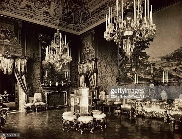Sala della Speranza , vintage photograph,1930-1939, Palazzo Pitti, Florence. Italy, 20th century.