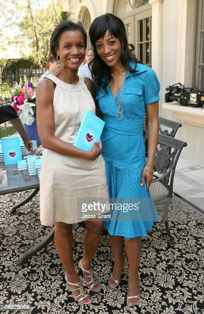 Salaam Coleman Smith and Shaun Robinson attend a reception celebrating the release of Shaun Robinson's book Exactly As I Am at a private residence on...