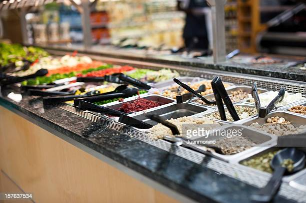 salad bar - food state stock pictures, royalty-free photos & images
