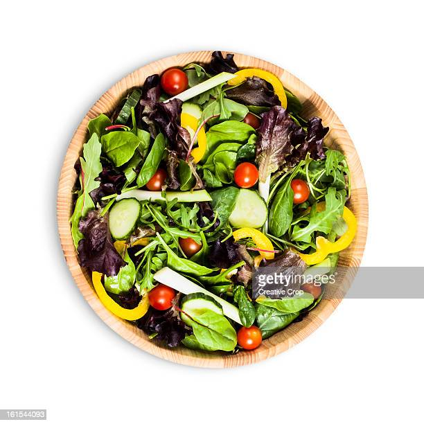 Salad bowl with green salad