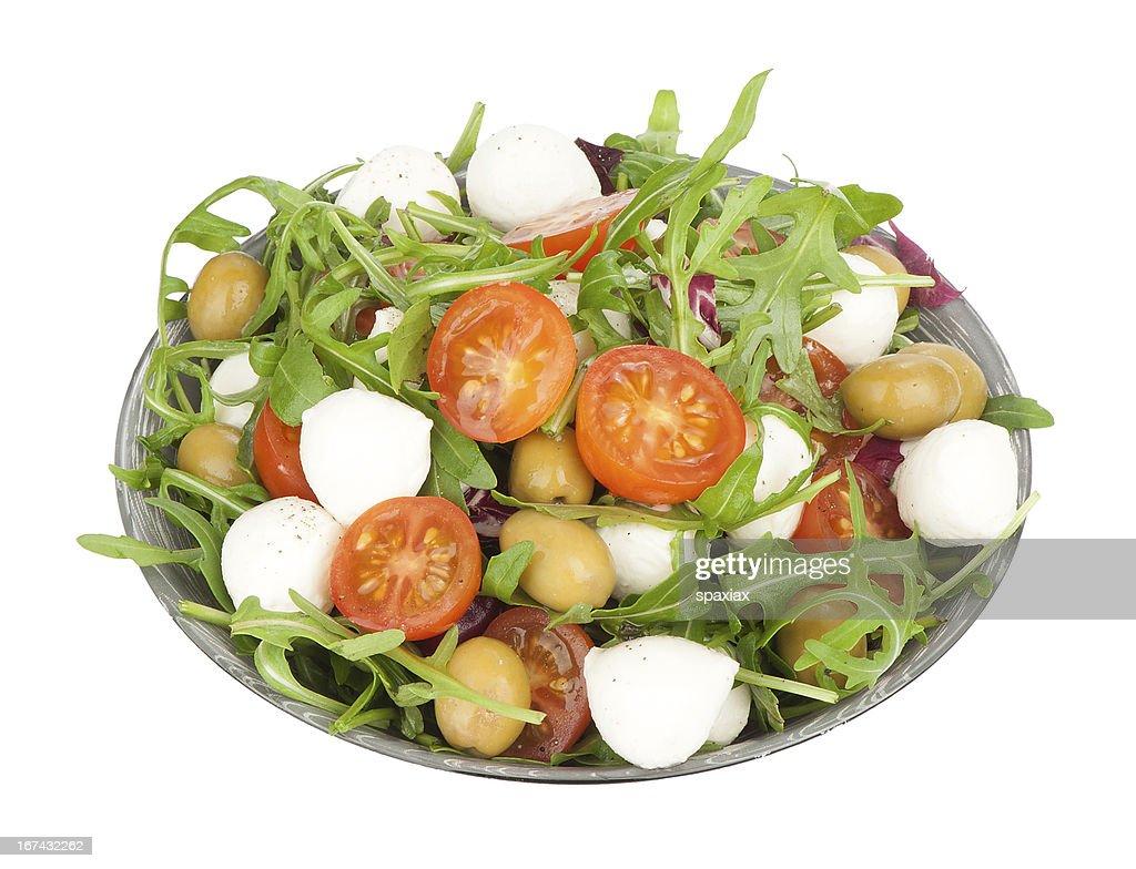 Ensalada de mozzarella : Foto de stock