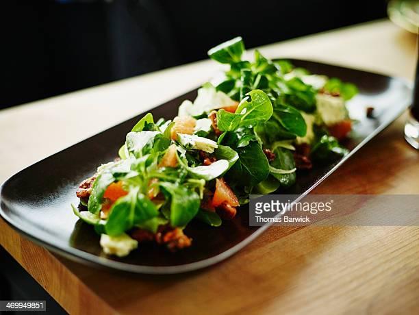 Salad of Organic Mache with citrus vinaigrette