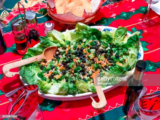 Salad on a Christmas celebration