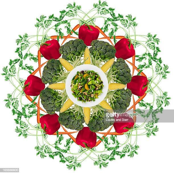 salad pattern - manipulação de imagem - fotografias e filmes do acervo
