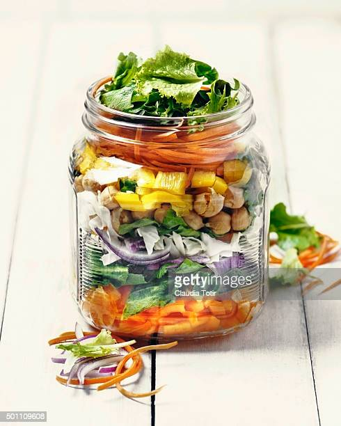 salad - jars with salad stock pictures, royalty-free photos & images