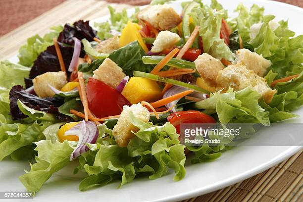 salad - leaf lettuce stock photos and pictures