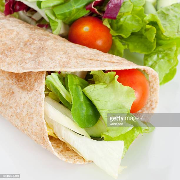 salad sandwich wrap - club sandwich stock pictures, royalty-free photos & images