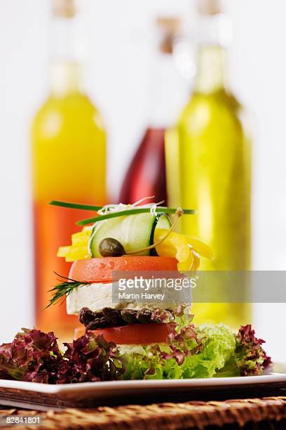 Salad with condiments.