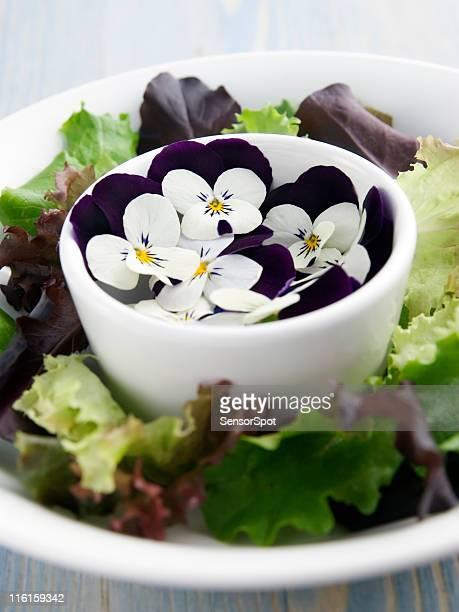 Ensalada con flores