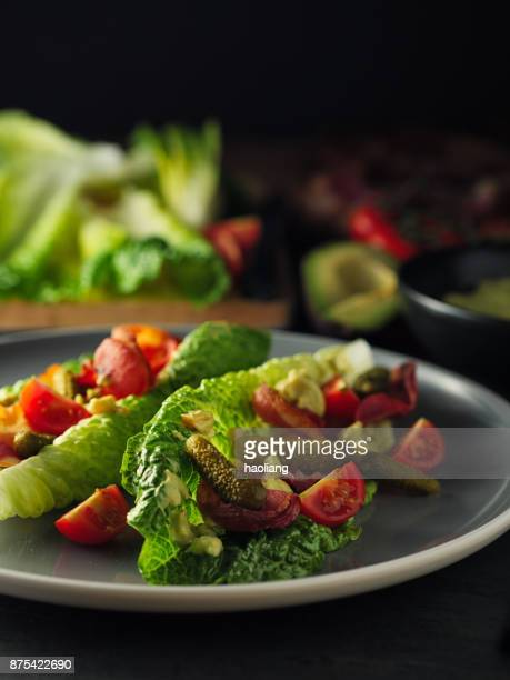 BLT salad with guacamole