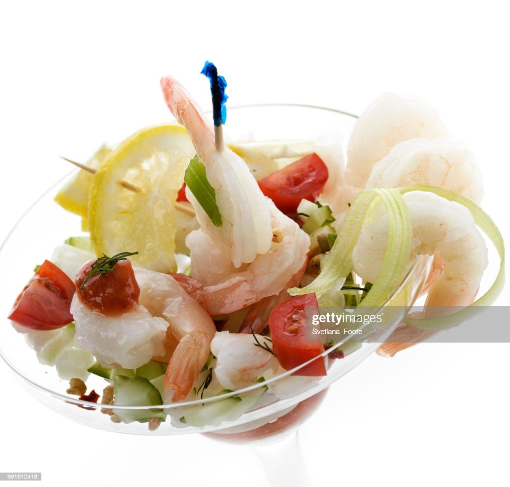 Salad With Shrimps : Stock Photo