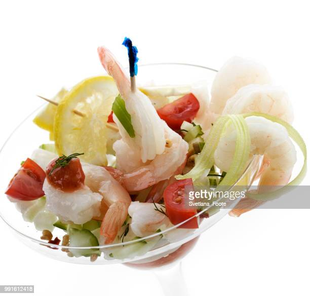 salad with shrimps - svetlana stock photos and pictures