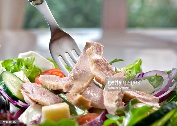 salad with tuna - atún pescado fotografías e imágenes de stock