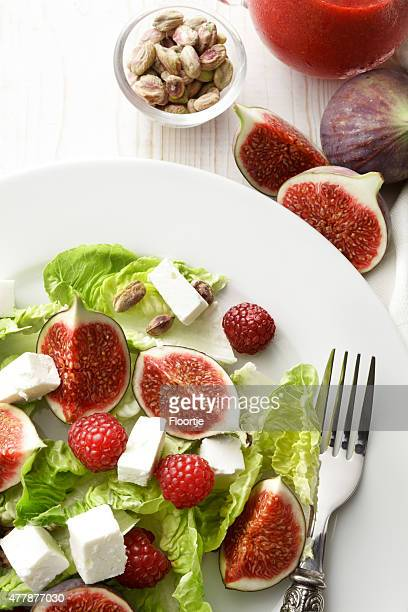 Salads: Salad with Figs, Feta and Raspberries