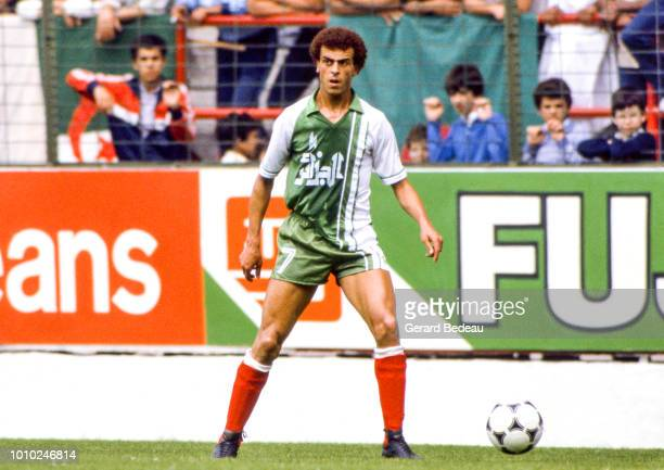 Salah Assad of Algeria during the World Cup match between Germany RF and Algeria at El Molinon Gijon Spain on June 16th 1982