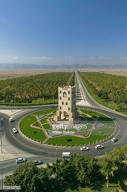 Salalah Clock Tower in Middle of Traffic Circle