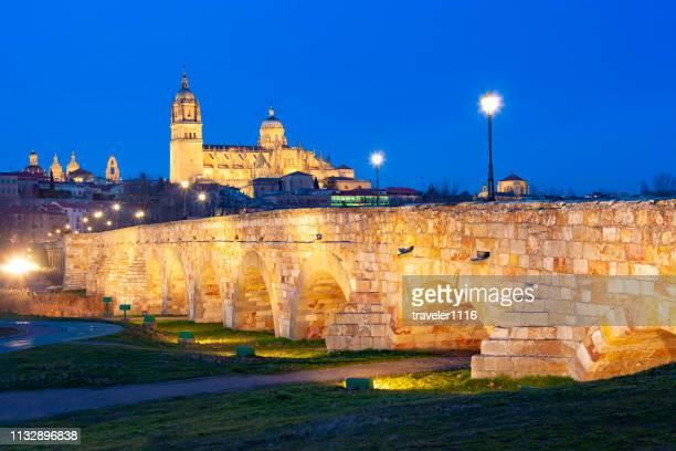サラマンカ, スペイン夜 - サラマンカ ストックフォトと画像